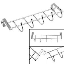 Towel Hanger Rack Stainless Steel Over-The-Door Kitchen Bathroom w/ 5 Hooks US
