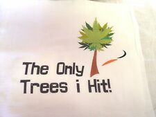 """Disc Golf Towel """"The ONLY Trees I Hit!"""" Funny Quote can be Personalized FREE!"""