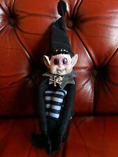 Creepy Elf Doll, Horror Doll, Gothic Decor, Gothic Christmas Elf