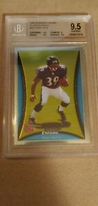 RAY RICE BOWMAN CHROME SILVER ROOKIES BC73 BGS 9.5 SERIAL NUMBERED /199 RARE !!