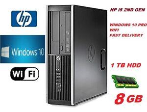 Fast HP Core i5 PC COMPUTER DESKTOP 8GB 1TB HDD WIN 10 PRO WiFi EXTREME JOB