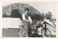 Nr 24304 Foto Mann mit Puch Moped Maurersachs 6 x 9 cm