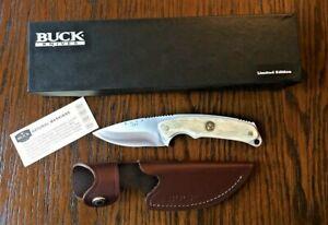 Buck Knives 694EKSBCLE Alpha Hunter Fixed Blade Elk Antler Knife B&C Custom