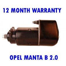 OPEL MANTA B 2.0 E 1977 1978 1979-1988 RMFD STARTER MOTOR