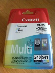 New Canon PG-540/CL-541 Ink Cartridge Black & Multicoloured BNIB GENUINE CANON
