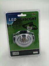 FLASHLIGHT HEAD TORCH 8 LED LIGHTS WHITE BRIGHT NEW