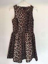 SIZE 6 TOPSHOP LEOPARD PRINT DRESS SUMMER/HOLIDAY/TOWIE/CLUBBING/CHELSEA RRP £55
