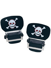 New Pair Of Silver Pirate Skull And Crossbones Fancy dress Shoe Boot Buckles