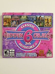 Hidden Object 6 Pack Classic Adventures II PC New Sealed