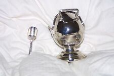 Vintage Round Bottom Silverplated Sugar Scuttle With Scooper England  by Price