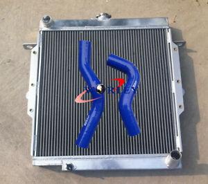 Toyota LandCruiser Land Cruiser 75 Series HZJ75 1HZ Aluminum Radiator +blue hose