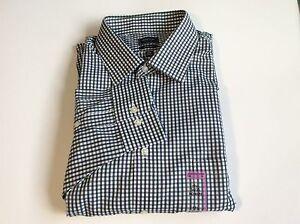 Arrow Fitted Sateen No Iron Dress Shirt Point-Collar Elm Sz.17 1/2 34/35 #55