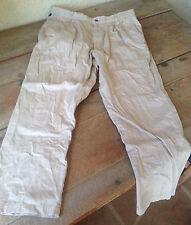 Mens Dockers Chinos Khaki Tan Pants Cotton 34 W 30 L Pleated Front Straight Leg