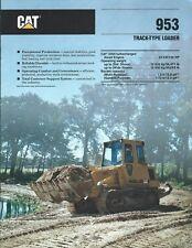 Equipment Brochure - Caterpillar - 953 - Track-Type Loader - 1989 (E4318)