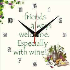 "Handmade ""Friends always welcome"" novelty fun gift present wall clock"