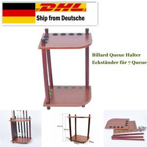 Queue Wandhalter Queueständer Holz Queuehalter Billard Zubehörfür 6 Queues U4G4