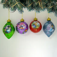 Bradford Disney Dazzling Dreams Glass Ornaments #4 Alice Minnie Jasmine Tigger