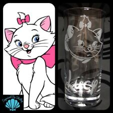 Gato Gatito personalizado Marie Disney Vidrio del jugo libre nombre grabado Regalo para Ella