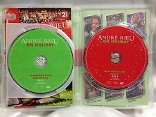 ANDRE RIEU ~ ON HOLIDAY CHRISTMAS + NEW YEAR'S EVE PUNCH ~ 2 AS NEW RARE DVD'S