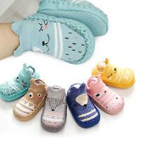 Baby Girl Boy Anti-slip Socks Cartoon Newborn Slipper Shoes Boots 0-18 Months