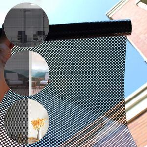 Window Self-adhesive Mesh Glass Film Window Sticker Sunscreen Shade Film