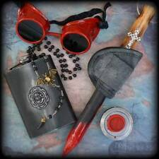 Vampire Zombie kit-wooden blood stick with holster,8Oz stainless flask,goggles