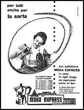 PUBBLICITA' MOKA EXPRESS  BIALETTI CAFFETTIERA CASA SARTA PREZZI MODELLI 1956