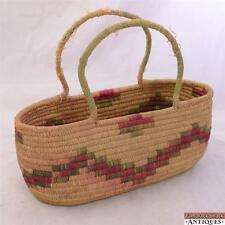 North West Thompson River Salish Native American Woven Berry Basket Gathering
