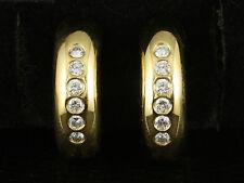 Schöne Brillant Ohr Creolen ohne Stecker   10,3g 750/- Gelbgold