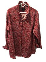 Chaps Ralph Lauren Nwt 2X Red White & Blue Paisley No Iron Blouse MSRP $65.00