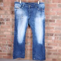 DIESEL INDUSTRY 00812 RUKY Button Fly Relaxed Straight Jeans Mens 38 X 32