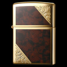 Zippo Venetian Design Both Sides Etching Gold Plating Japan Limited Cool Rare