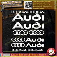 12 Stickers Autocollant Audi sponsor rallye tuning lot planche sticker decal
