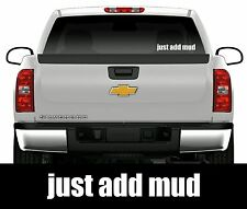 JUST ADD MUD DIESEL 4X4 STICKER DECAL COUNTRY PICKUP POWER STROKE