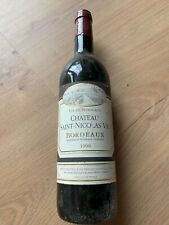 Chateau Saint Nicolas VIC Bordeaux 1998 Wein