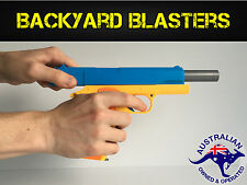 Realistic 1:1 Scale Colt 1911 Rubber Bullet Pistol Toy Gun | Backyard Blasters