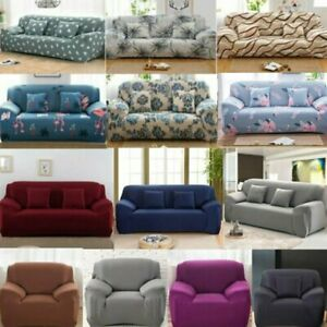 For 1 2 3 4 Seater Stretch Sofa Cover Lounge Couch Removable Slipcover Protector