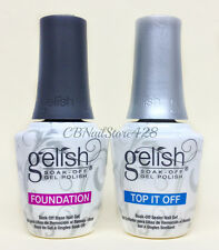 Harmony Gelish Soak-Off Foundation BASE + TOP It Off DUO 0.5oz - New Packaging
