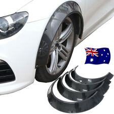 4Pcs 800mm Universal Carbon Fiber Look ABS New School Fender Flares Wheel Arches