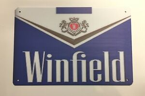 Winfield Metal Tin Signs Man Cave Blue Red 20 Tobacco Logo Cigarette Collectible