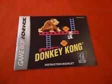 Donkey Kong Classic NES Series Nintendo Game Boy Advance Instruction Manual