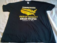 Total Solar Eclipse Tshirt~Tennessee Aug 2017~XL~100% Cotton~Path of Totality