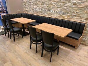 Restaurant Möbel nach maß Gastro Einrichtung Sitzbank 100cm Bar Hocker Sitze