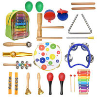 20X Musical Developmental Wooden Educational Baby Kids Rattle Instrument Toys K