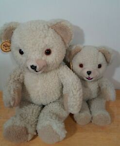 "Vtg 1986 Russ Snuggle Teddy Bear Plush 16""and 10"" Bearsl Lever Brothers Company"