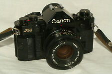 Canon A-1 camera, FD 50 mm 1:1.8 lens, battery, for student photography class