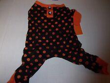 Orange Black Polka-Dot Puppy Dog Pajamas pet Pj's pjs S costume halloween small
