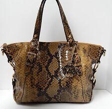 Michael Kors Python Snake Embossed Hi Gloss Leather Satchel