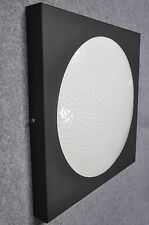 Quadratische Deckenleuchte Wandlampe mit Struktur Überfangglas Sarfatti Ära