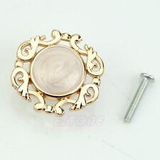 Gold Single Knobs Vintage Resin Door Cabinet Cupboard Handles Pull Drawer 2.5cm
